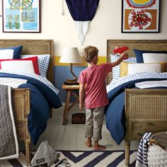 Traditional shared boys room.
