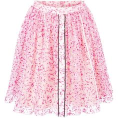 Fendi sheer floral skirt ($1,910) ❤ liked on Polyvore featuring skirts, fendi, floral skirt, straight skirt, floral knee length skirt, pink silk skirt and see through skirt