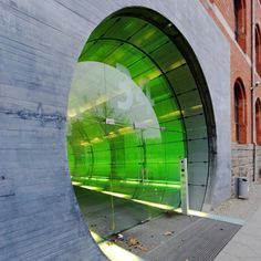 Energieforum: Entrance of an office building in Germany.