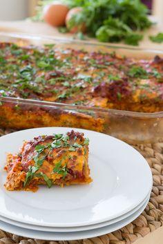"Paleo Lasagna with Butternut Squash ""Noodles"" (Dairy-free + Grain-free) #HealthfulPursuit"