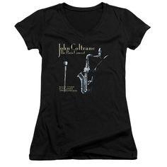 JOHN COLTRANE/PARIS COLTRANE - JUNIOR V-NECK - BLACK -