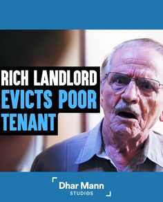 Rich Landlord Decides To Evict His Poor Tenant, Instantly Regrets It | Dhar Mann. Times are hard for everyone right now. We all need to help each other get through. For more motivational video, visit DharMann.com #DharMann Life Tips, Life Hacks, Motivational Videos, Hard Times, Don't Judge, For Everyone, Being A Landlord, Money Management, Regrets