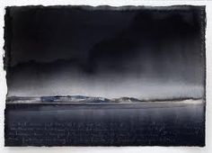 Lars Lerin 25 x 38 cm, watercolor on paper. Watercolor Landscape, Abstract Watercolor, Watercolor And Ink, Abstract Landscape, Landscape Paintings, Watercolor Paintings, Watercolours, Nocturne, Gouache