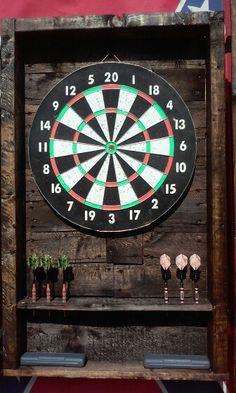 My pallet dart board cabnet