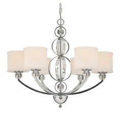 Golden Lighting Cerchi 6 Light Chandelier | Wayfair