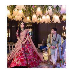 Deepika Padukone georgett heavy thread embrodiery with Indian Bridal Lehenga, Indian Bridal Fashion, Indian Wedding Outfits, Indian Weddings, Engagement Dress For Groom, Engagement Dresses, Wedding Picture Poses, Wedding Couple Poses, Bridal Looks
