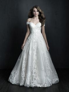 Baley's Bridal offers gorgeous Allure wedding dresses at great prices. This extensive selection of plus size bridal gowns and wedding dresses at Blossoms Bridal will have your full figure looking stunning for the big day! Vows Bridal, Bridal Gowns, Wedding Gowns, Lace Wedding, Allure Couture, London Bride, Perfect Wedding Dress, Dream Wedding, Garden Wedding