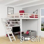 From Expandfurniture.com or Tecrostar.com (Europe), the Tecrostar expandable loft.  Can have varying sizes, loft or narrow stairs options.  Packages range from approximately $2000-$2650.