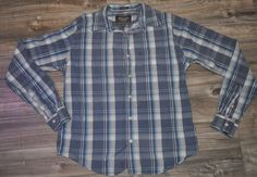 Abercrombie & Fitch Mens XL Muscle Fit Blue Check Shirt 100% Cotton  | eBay