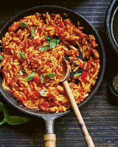 Orzo with roasted veg sauce | delicious. magazine