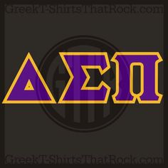 delta sigma pi letters sewn on or printed on shirt pull over crew neck