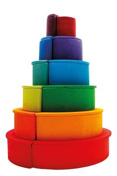 Extra large creative puzzle to be played on the floor. In combination with our Stacking Tunnels or other building blocks one can build inventive and … Grimm's Toys, Baby Toys, Grimms Rainbow, Little Architects, Pre K Activities, Baby Sensory, Montessori Toys, Imaginative Play, New Kids