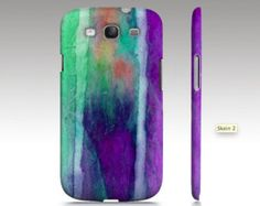 Samsung Galaxy s3 case, Galaxy S4 case, Galaxy S5 case, purple ombre watercolor design, abstract painting, texture art for your phone