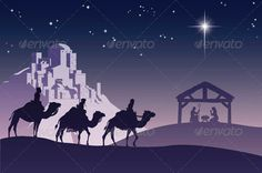Christian Christmas Nativity Scene — Vector EPS #light #stable • Available here → https://graphicriver.net/item/christian-christmas-nativity-scene/535403?ref=pxcr