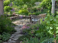 Shady side yard..path to bocce/horseshoe pit= ♥ Gardening Tips and Pics: Garden Views