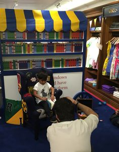 At a Polo Ralph Lauren Kids event doing a photo shoot