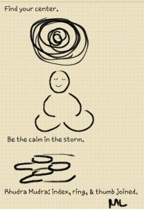 Rudra Mudra: Be the calm in the storm: I am calm, I have strength, I am centered.