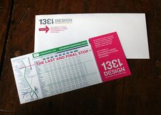 Moving Announcement and matching envelope. 1331design.com.