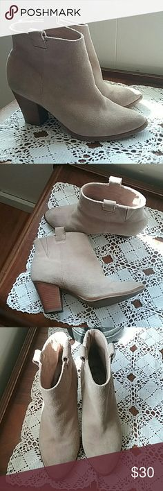 J. Crew ankle boots Suede ankle boots in very good condition.  Some minor marks on toe area as shown in pics. J. Crew Shoes Ankle Boots & Booties