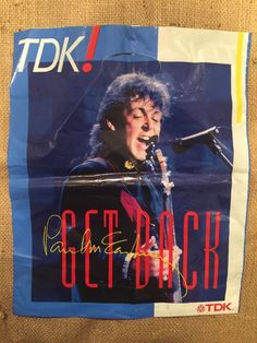 Paul McCartney TDK Gig Tour 5 Promo Merchandise Super Rare Carrier Beatles Bag  | eBay