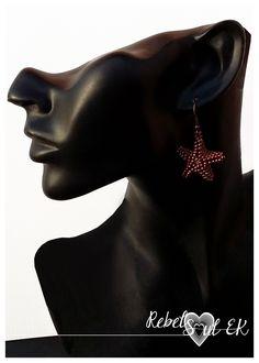 RebelSoulEK beaded sea star earrings nice copper color