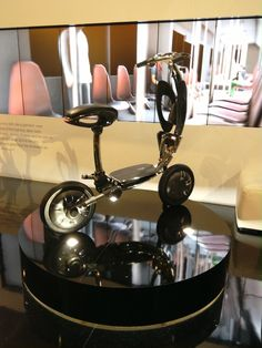 An interesting folding bike. #CES2015 #Intel #IntelTablets