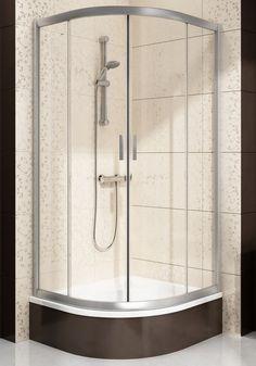 Ravak Blix BLCP4 Sabina je štvrťkruhový posuvný štvordielny znížený sprchový kút s rozmermi 80x80, bielym rámom a sklom grape.  - výška 1750 mm - priestorovo ús Sink, Bathtub, Bathroom, Home Decor, Sink Tops, Standing Bath, Washroom, Vessel Sink, Bathtubs