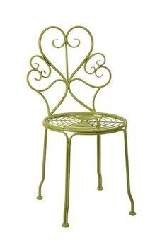 Iriana Green Iron Side Chair