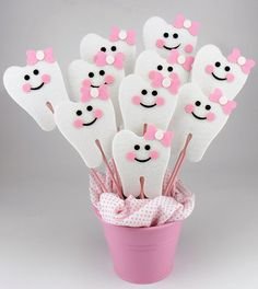Felt First Tooth Party Centerpieces On a Stick 6pcs by KeceSus