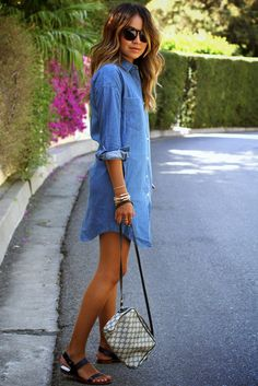 Julie Sarinana Street Style Shirt Dress