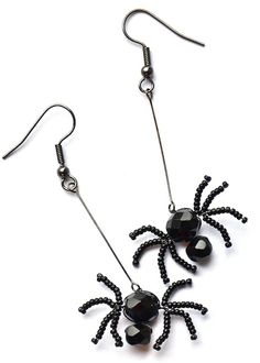 SEL298 Incey Winsey Earrings - free instructions - made these