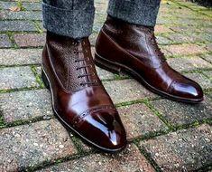 Handmade Men Two Tone Wingtip Cap Toe Boots Leather Boot, men ankle shoes – Boot… Handmade Men Two Tone Wingtip Cap Toe Boots Leather Boot, [. High Ankle Boots, Ankle Shoes, Lace Up Shoes, Shoe Boots, Shoes Men, Men's Shoes, Shoes Style, Men Boots, Pants Style