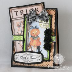 Cute Halloween Card by Bonnie Garby using our Halloween CD and Really Reasonable Ribbon