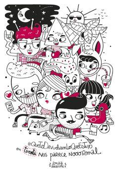 Ilustración para la campaña de verano de Tuenti.  Agente: The Mushroom Company Cliente: Tuenti