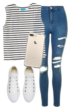 """Field hockey game tomorrow"" by melw44 ❤ liked on Polyvore featuring Topshop, M.i.h Jeans and Converse"