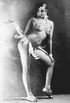 Josephine Baker's most famous act- Danse Sauvage, a wild and provocative dance wearing a skirt of bananas.