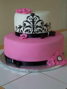 Pink/Black Baby Shower