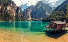 ITALY – Lake Braies, a. Lake Prags or Pragser Wildsee in the Prags Dolomites mountain range, Trentino-Alto Adige/Südtirol (South Tyrol) region. Places To Travel, Places To See, Beautiful World, Beautiful Places, Beautiful Beach, Romantic Places, Camping Nature, Nature Green, Europa Tour