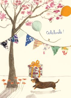 madison-park-greetings-group-greeting-card-celebrate-birthday-emma-block-dachshund-dog