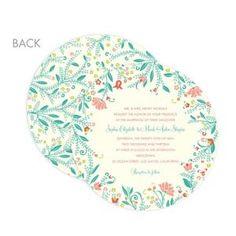 Romantic Meadow round wedding invitation