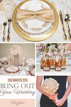 50 Ways to Bling Out Your Wedding Wedding Reception Decorations, Wedding Themes, Wedding Colors, Wedding Venues, Wedding Ideas, Reception Ideas, Diy Wedding, Wedding Stuff, Dream Wedding