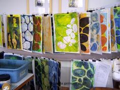 printmaking without a press with Linda Germain: Inspiration from Alyson Stanfield