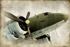 Wall mural Retro propeller airplane wall paper wall by StyleAwall