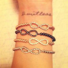 limitless tattoo wrist infinity symbol bracelets