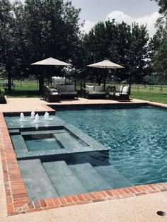 A pool is a great add-on to any backyard landscape design program. Before talkin… A pool is a great add-on to any backyard landscape design program. Before talking about where it should be fitted or how it should look like, you shou… Small Inground Pool, Small Swimming Pools, Luxury Swimming Pools, Dream Pools, Swimming Pools Backyard, Swimming Pool Designs, Swimming Pool Images, Luxury Pools, Backyard Pool Landscaping