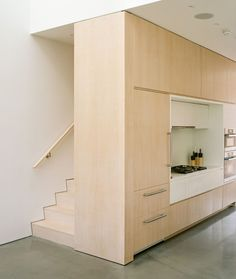 Stairs of Rhode Island family vacation home by Bernheimer Architecture.