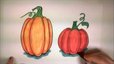 Learn How to Draw Easy Pumpkins--iCanHazDraw!