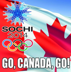 Wishing all the athletes, their teams (coaches, family members, friends, etc.) and all of you cheering them on, a wonderful 2014 Olympic Winter Games! We're so proud of our Canadian athletes and know they'll create some shining moments in Sochi! Go, Canada, Go!