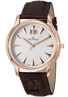 Price:$297.50 #watches Grovana 1030.1562, Grovana is a firm that has made a name for itself in the Swiss watch making industry through innovation and flexibility. Up to the 1970s it made mechanical watches that were always state of the art. Swiss Watch, Mechanical Watch, State Art, Flexibility, 1970s, Innovation, Sunday Paper, Reduce Waste, Shopping Deals