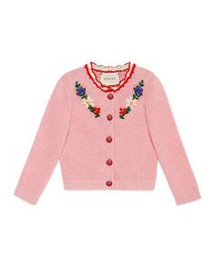 Flower Crochet Wool-Blend Cardigan, Size Months by Gucci at Neiman Marcus. Crochet Wool, Flower Crochet, Kids Fashion, Fashion Outfits, Fashion Design, Pretty Outfits, Cute Outfits, Designer Baby Clothes, Get Dressed